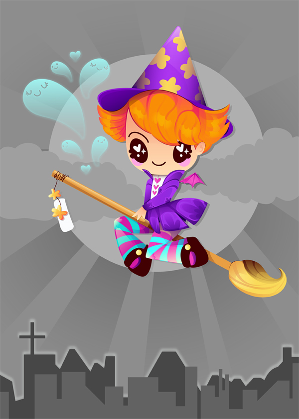 Link toCreate a colorful, 1940s-inspired witch in adobe illustrator