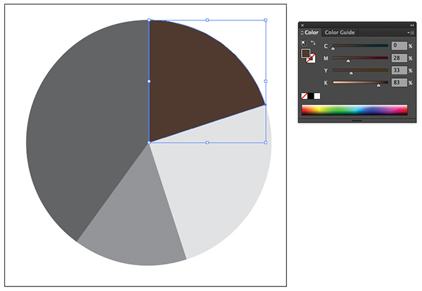 pie graph brown