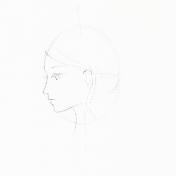Step 7 - Start to draw hair