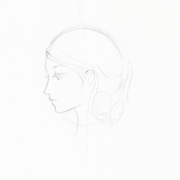 Step 9 - Start to draw head