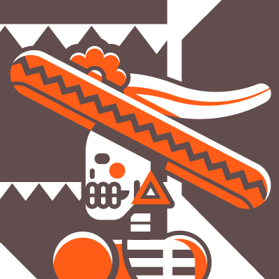 Preview for Use Basic Shapes to Create a Complex Catrina Poster in Illustrator
