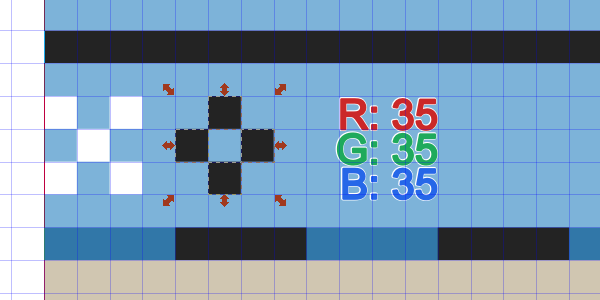 draw 4 squares