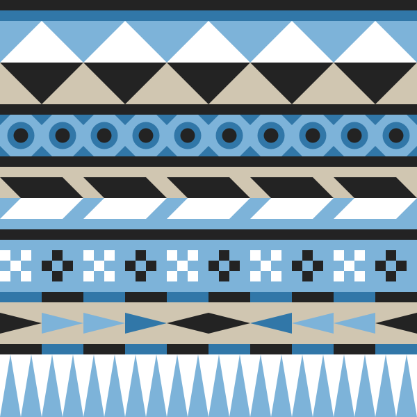 Link toHow to create an easy geometric aztec pattern in inkscape