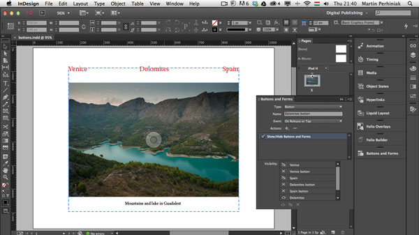 Link toDigital publishing with indesign cc: buttons