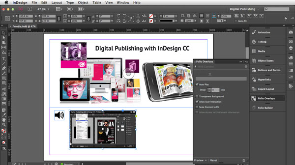 Link toDigital publishing with indesign cc: video files