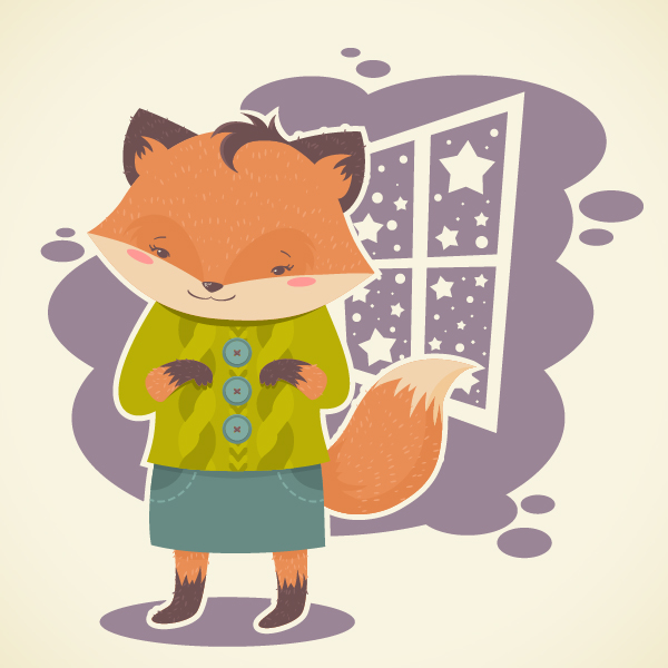 Cute Character Design Illustrator : How to create a flat subtle textured fox in adobe illustrator