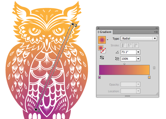 Link toQuick tip: using the gradient tool and gradient panel in illustrator