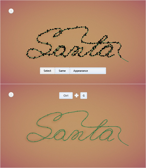Christmas Lights Text Effect