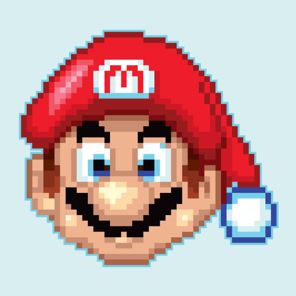Link toHow to create a mario, pixeled holiday ornament in adobe illustrator