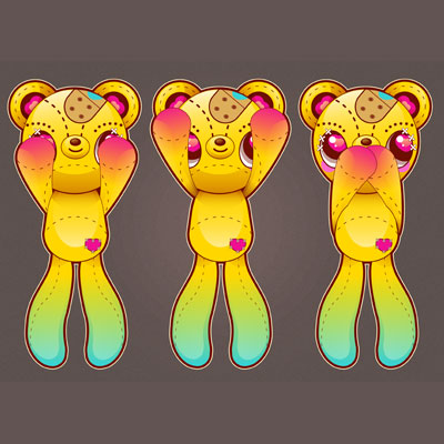 Preview for How to Vector Three Wise Teddy Bears Without the Pen Tool in Illustrator