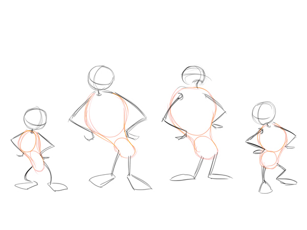 Cartoon Characters Using Shapes : Cartoon fundamentals how to draw a body tuts