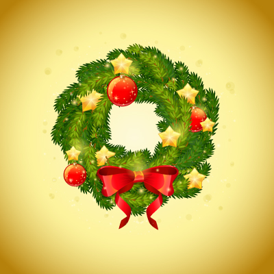 create a detailed festive christmas wreath in adobe illustrator - Small Christmas Wreaths