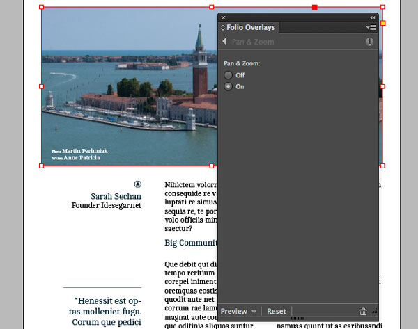 Link toDigital publishing with indesign cc: pan & zoom and web content
