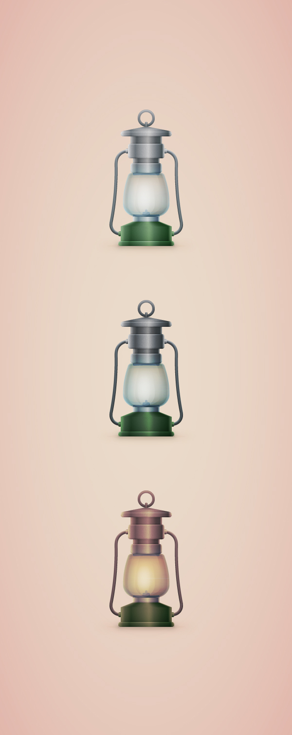 Old Lamp Illustration