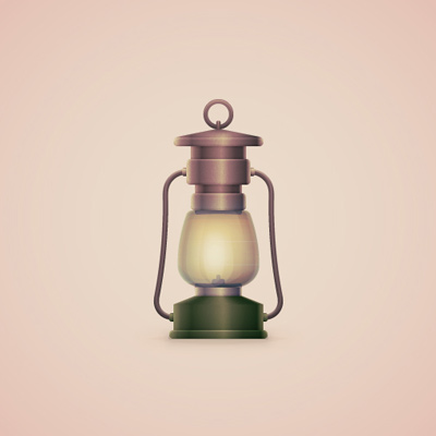 Preview for How to Create a Vintage, Camping Lantern Icon in Adobe Illustrator