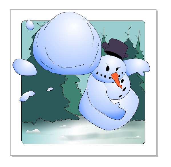 Vector-App-Icon-Snowball-Fight--Snowman-Shadow-Same-as-Tree