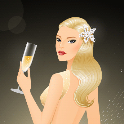 Preview for Create a Glamorous Champagne-Inspired Illustration in Illustrator