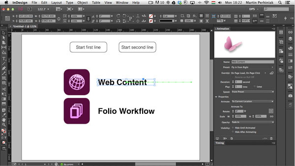 Link toDigital publishing with indesign cc: animation and timing