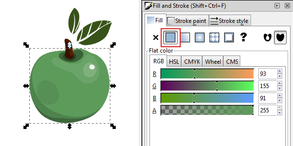 Inkscape Character Design Tutorial : Tips on using inkscape s fill and stroke options