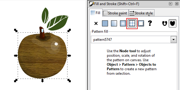 inkscape pattern fill