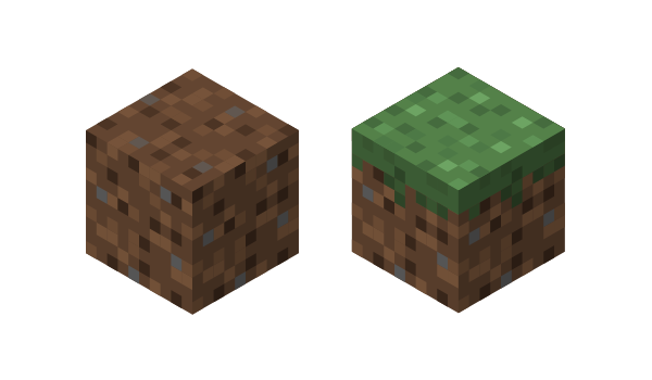 dirt and grass block