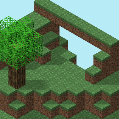Preview for Playing With Isometric Projection in Inkscape to Make a Minecraft Scene