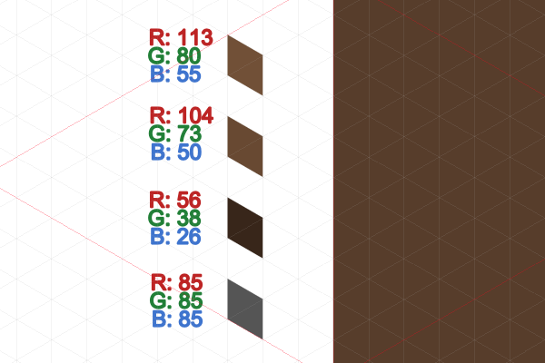 dirt block colors