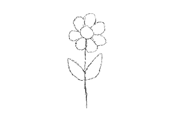 Iwanttodraw 1 4 draw flower