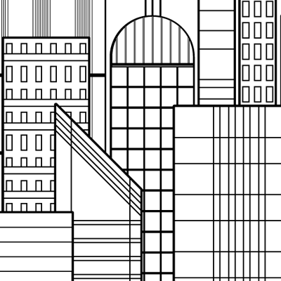 Preview for How to Create a Line-Based Cityscape With the Rectangle Tool in Illustrator