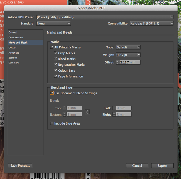 screen res pdf from indesign
