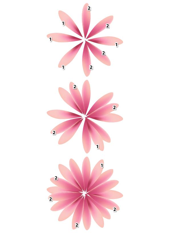 Create simple flowers with gradient mesh in adobe illustrator dianatutmeshflower9 mightylinksfo