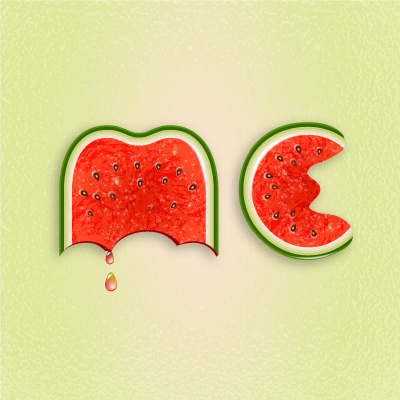 Preview for Use Brushes to Create a Watermelon Text Effect in Illustrator