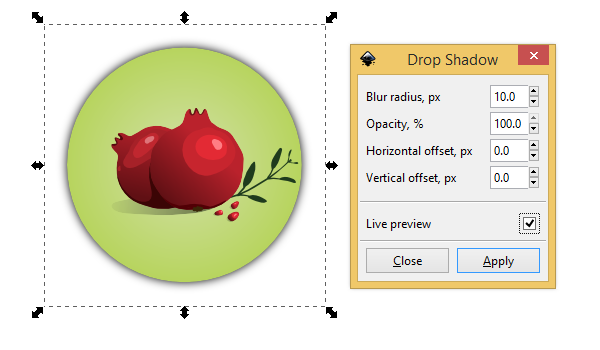 inkscape drop shadow