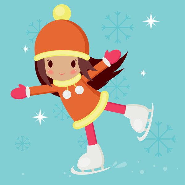 Cute Character Design Illustrator : Create a skating girl with basic shapes in adobe illustrator