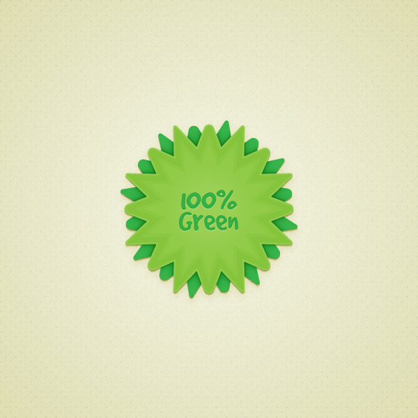 Link toCreate a green web badge using live corners in illustrator