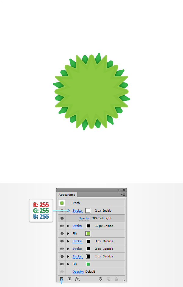 Create a Green Web Badge Using the Live Corners Feature