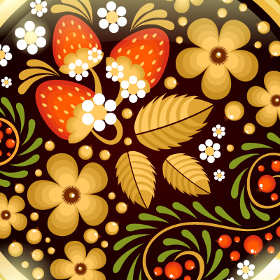 Preview for Create a Traditional Russian Khokhloma Ornament in Illustrator