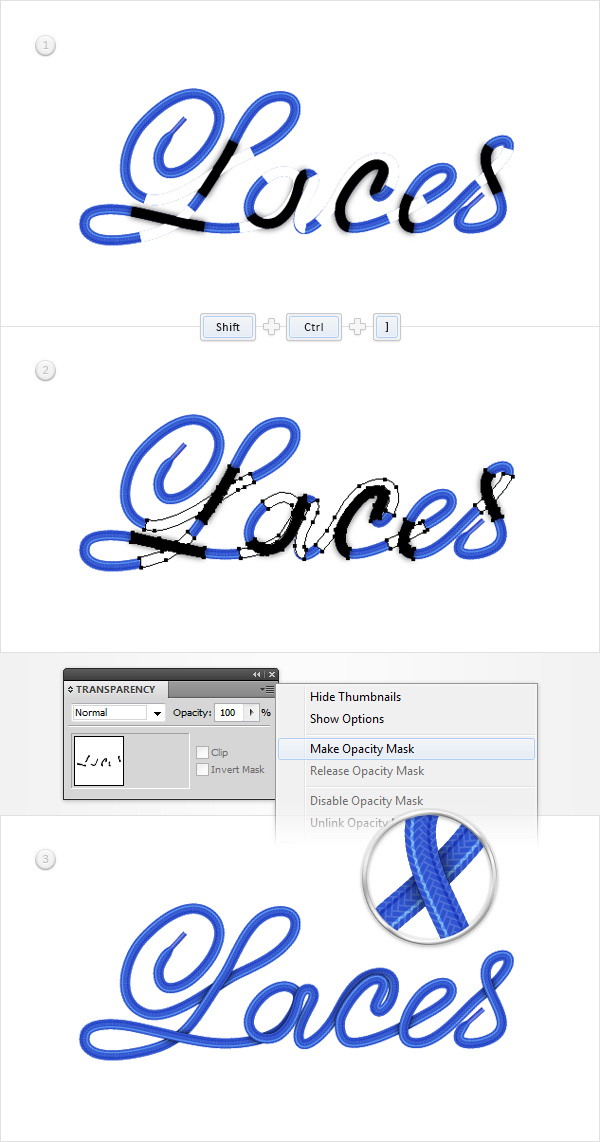 Laces Text Effect