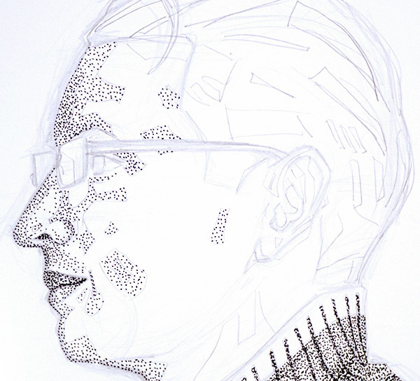 pointillism-face