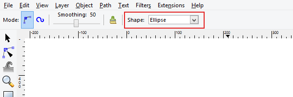 ellipse taper