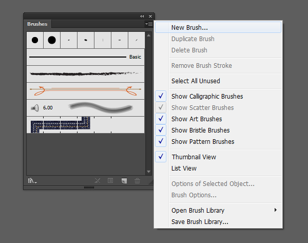 How to make use and manipulate a calligraphic brush in