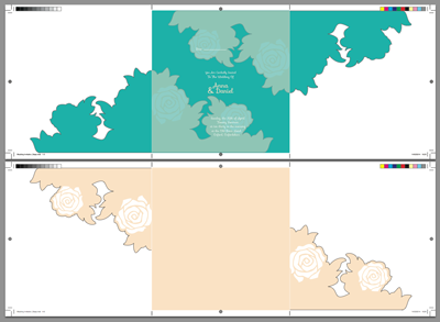 Link toCreate a spring wedding invitation for die cutting and embossing in indesign