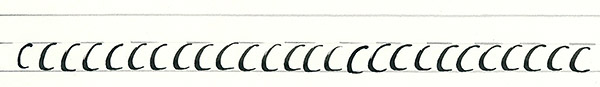 calligraphy intro - basic curve line
