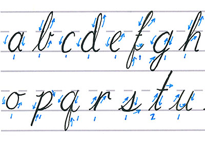 how to write f in cursive