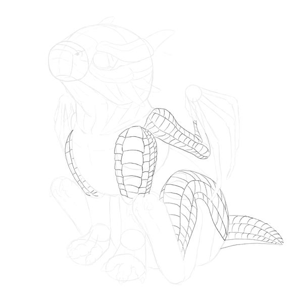 drawingbabydragon-3-5-scales-body2