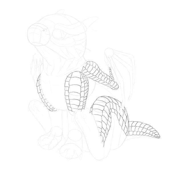 drawingbabydragon-3-5-scales-body3