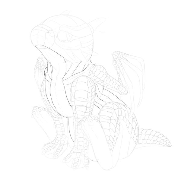 drawingbabydragon-3-7-scales-body1