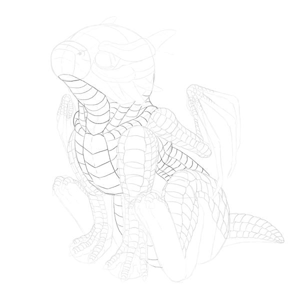 drawingbabydragon-3-7-scales-body2