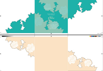 Preview for Create a Spring Wedding Invitation for Die Cutting and Embossing in InDesign
