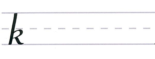 roundhand script - letter k